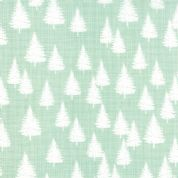 Moda Winterberry by Kate & Birdie - 3930 - Snow Pine Trees on Mint - 13143 14 - Cotton Fabric